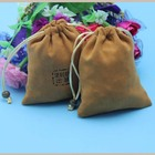 wholesale fashion suede cloth drawstring bag for jewelry storage