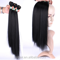 "16"" 18"" 20"" Yaki Straight Hair 3pcs/set Hair Weft Synthetic Hair Bundles for Afro Women"