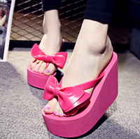 S11978A 2015 New Woman Sandals Platform Shoes Summer Middle Heels Slippers