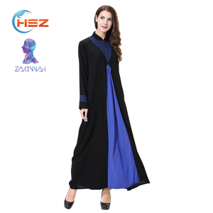 Zakiyyah TH901 Fashion Design Black Abaya Elegant Casual Women Long Dress Maxi Kaftan for Indonesia Girls New Model Hemp Abaya