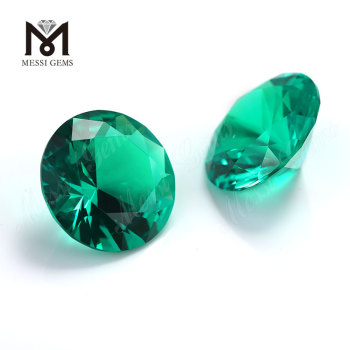 Lab Created Emerald Round Brillianit Cut Colombia Stone Price