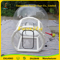 PVC Tarpaulin Inflatable Clear Plastic Dome Tent , Clear Igloo Tent for business/wedding events