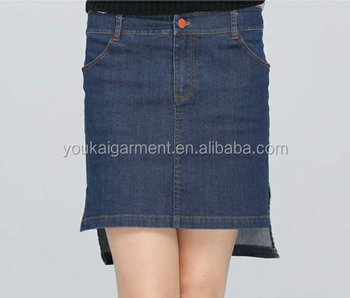 New Design H Style Ladies Jeans Skirt,Split Joint Irregular Skirt ...
