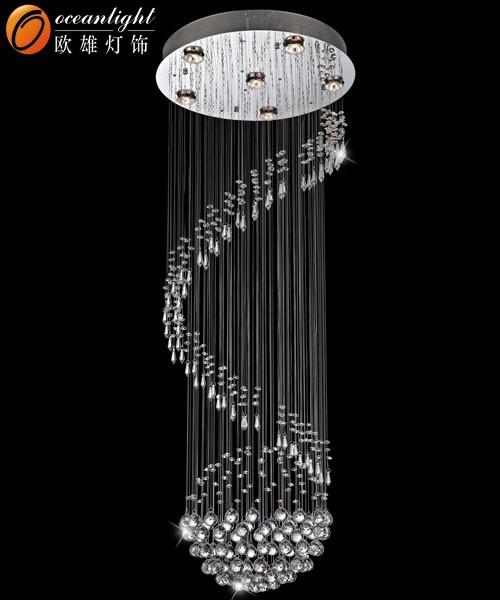 Round Crystal Pendant Light,Kitchen Ceiling Light Pendant Light ...