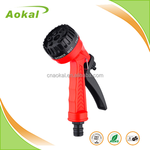 Sprayer garden 7 function plastic water spray gun ABS color custom lawn and garden sprayer