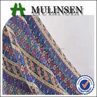 Woven 100D Chiffon Printed Customized Poly Fabric