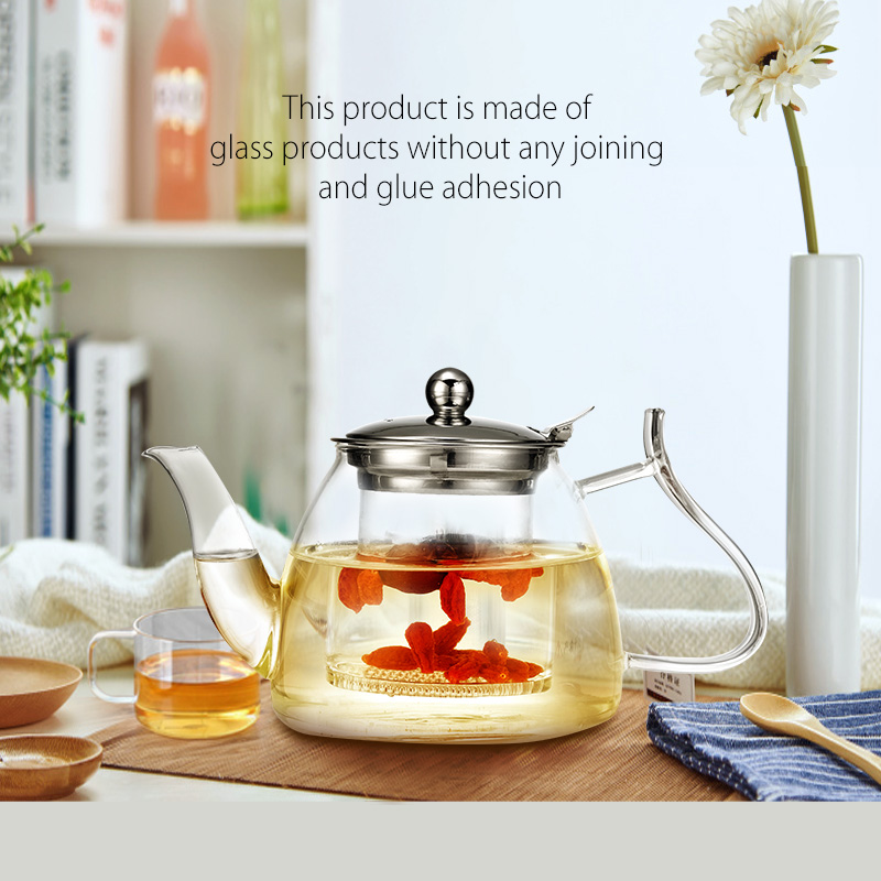 New arrival moroccan heat resistant glass teapot with stainless filter