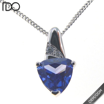 China professional manufacturer supply tanzanite color jewelry findings pendant setting