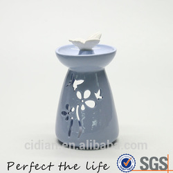 Ceramic box shape blue money piggy bank porcelain saving bank