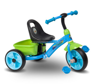 Shock Absorption Kids Tricycle/Parts Steel Frame With Children Tricycle