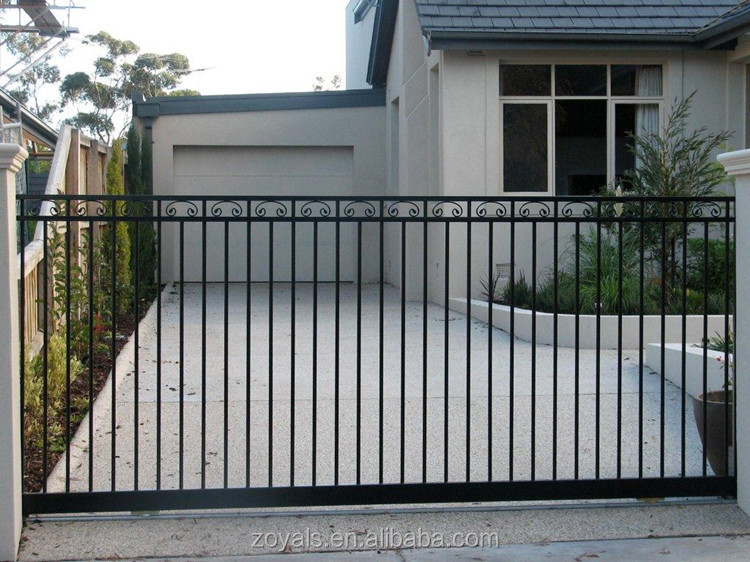 Sliding Wrought Iron Big Gates Beautiful Design Decorative
