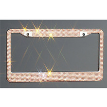 금 색/<span class=keywords><strong>빛</strong></span> peach 석 blinged auto license 판 frame