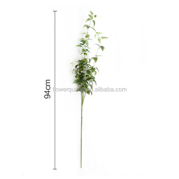 11 Braches Flower Artificial Plant Leaves Silk Acacia Green Poison Ivy Large Foliage