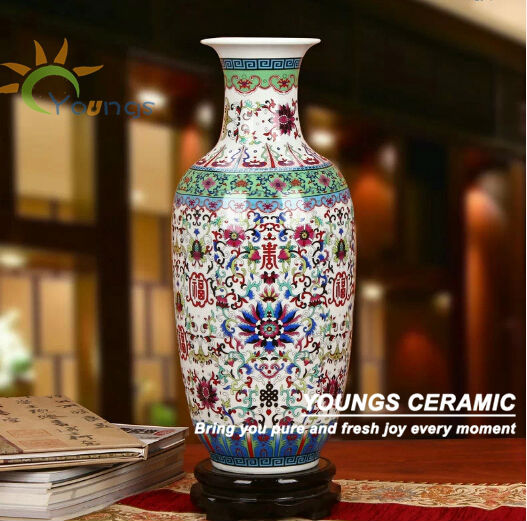 Beautiful Big Ceramic Pottery Flower Vases For Interior