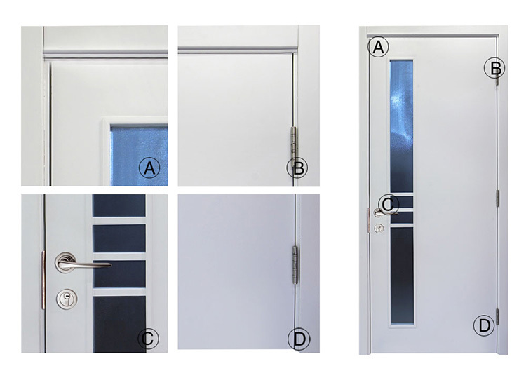 Modern Popular Office Interior Frosted Glass Wood Door Design With