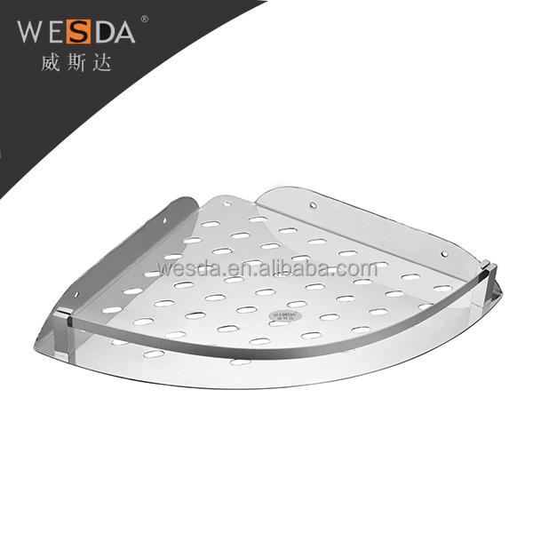 Wesda Bathroom Accessories. Stainless Steel Wall Mounted Shower Basket Shelf  / Storage Basket For Cosmetic