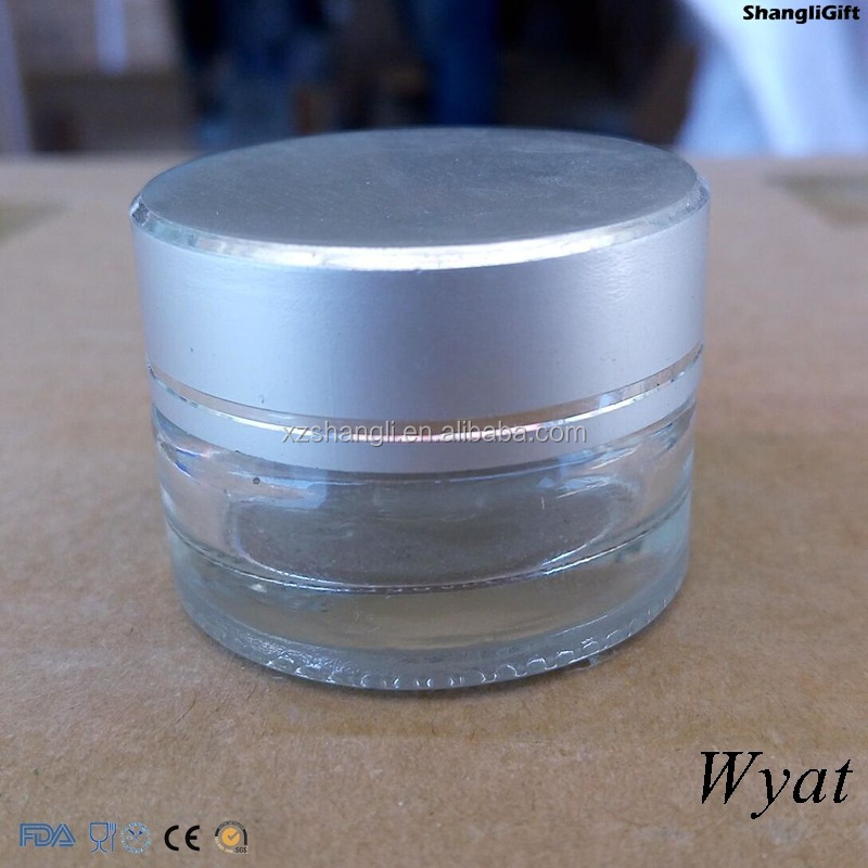 Cheap Empty 15g Small Glass Facial Jar for Cosmetics