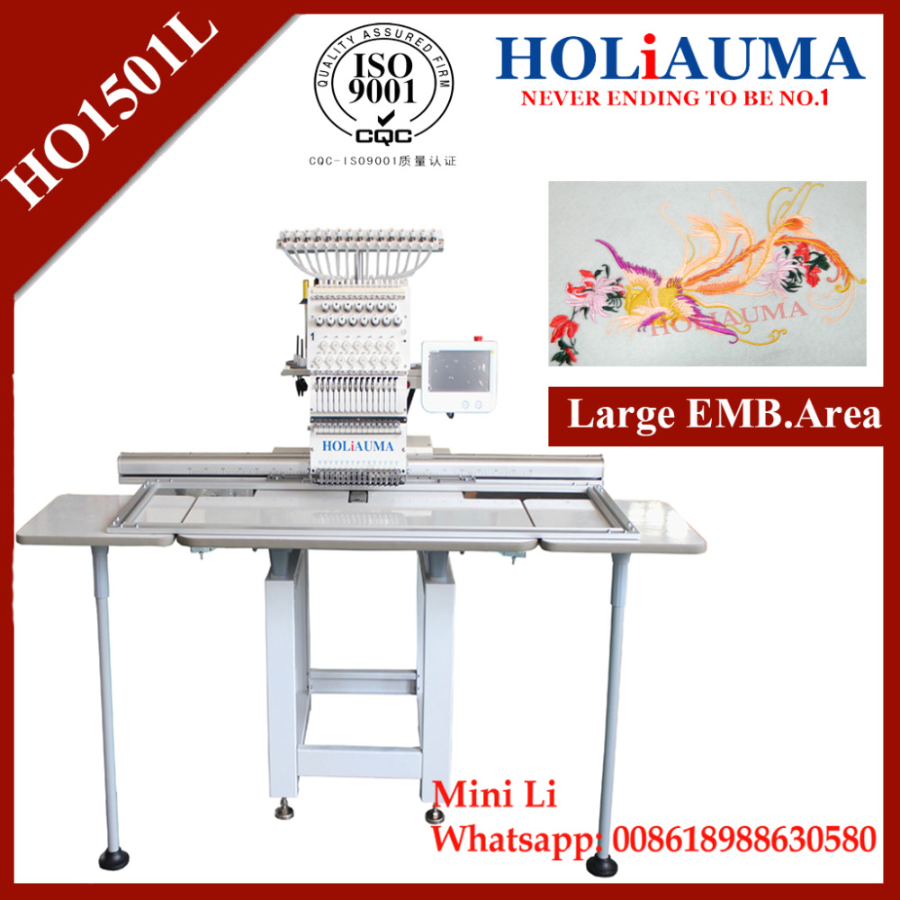 Large Area with 360*1200 mm EMB 1 Head Computer Embroidery Machine with Cap/T-Shirt/Sequin Embroidery