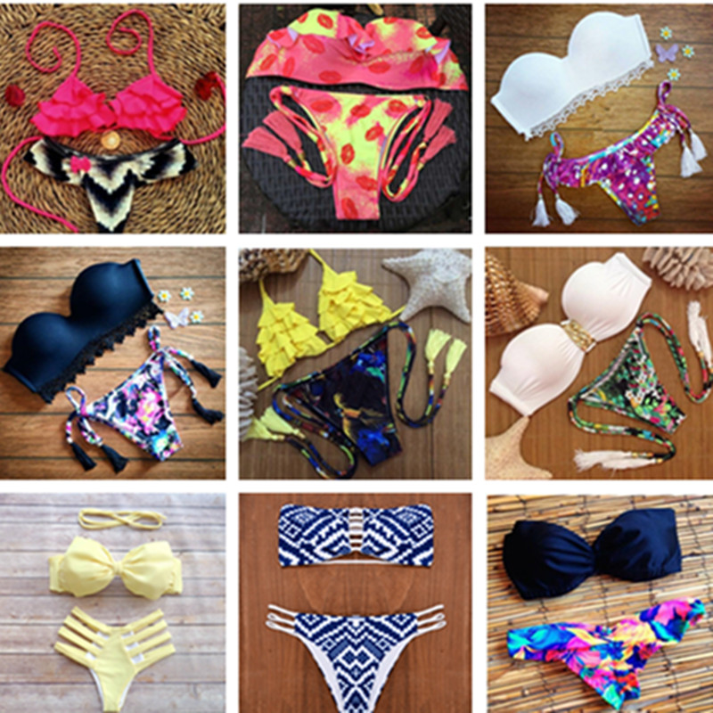 21 Styles New Fashion Bottom Bikinis Beach Women Swimwear Swimsuit Ladies Bathing Suit Halter Sexy Bikini