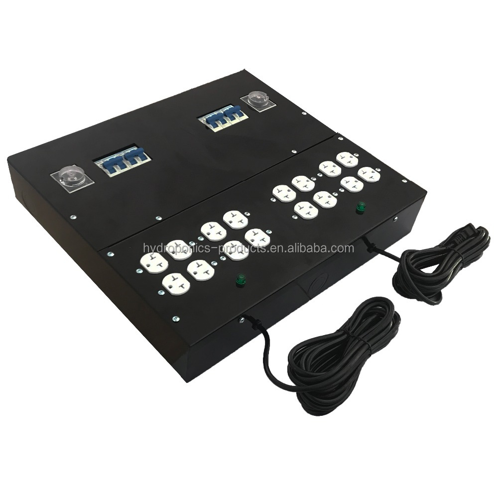 16 Light Master Lighting Controller 120 / 240V with Trigger Cord Lighting Relay Controller