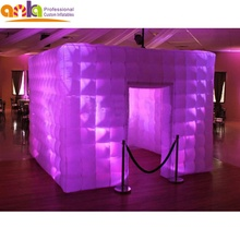 Giant แบบพกพา led light inflatable photo booth สำหรับประตูเดียว
