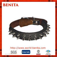 2016 Newest Style Custom Personalized Spiked Leather Dog Collar