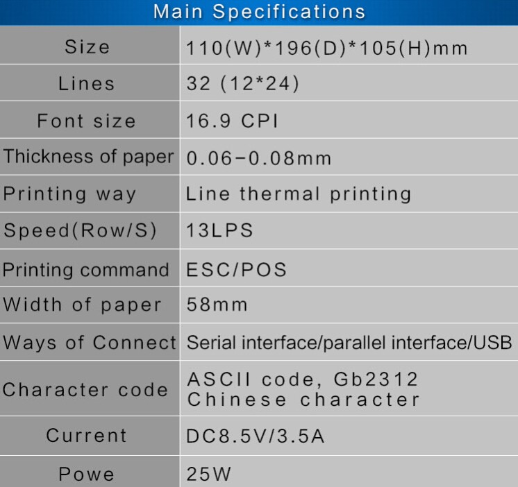 Tp5801 Cheap Factory 58mm Portable Thermal Printer,Logo Printable Pos 58  Thermal Receipt Printer - Buy Thermal Receipt Printer,Pos Receipt Printer