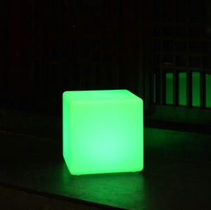 LED modern led cube lighted led cube chair outdoor seating cube color changing led cube outdoor furniture garden led ball light