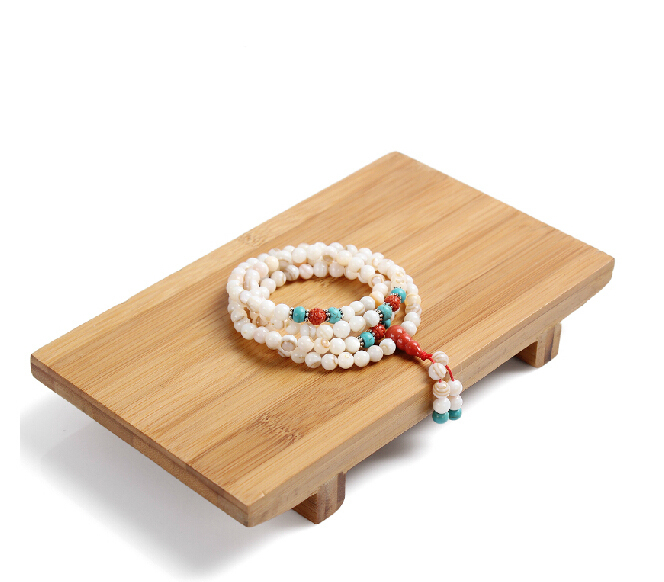 2015 New Jade Jewelry Tray Display Props Wood Plate Furnishing Articles Plate Tray Watches Bangle Bracelet Necklace Display Rack