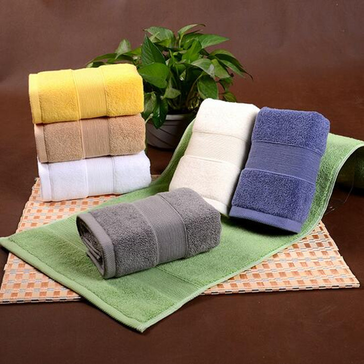 100% cotton Soft Yarn dyed Plain hand towel terry jacquard design