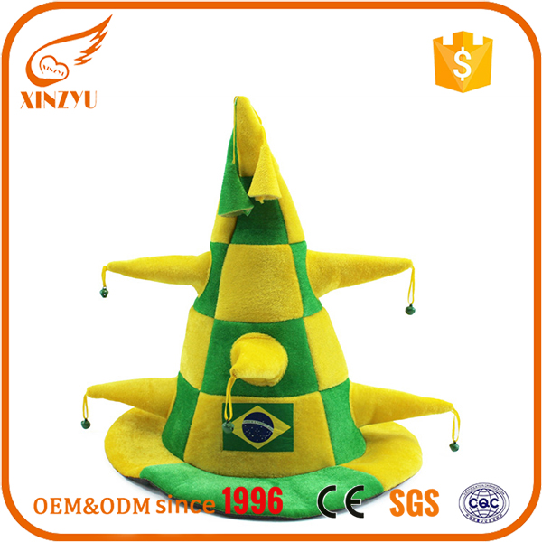 Custom men's tea party hats wholesale cone mini top hat for adult football fans