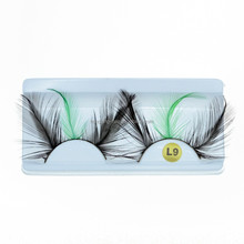 Crazy Design Party Style False Eye Lashes Colorful Feather Eyelashes for reseller