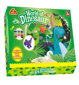 world of dinosaur educational toys for kid 2019 hot sale  EN71 ASTM  DIY modeling dough play dough