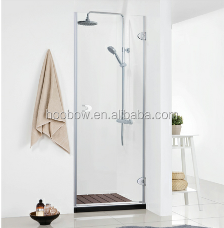 New Simple Frameless Prefabricated Modular Bathroom Free Standing Straight Hinge Shower Cubicle