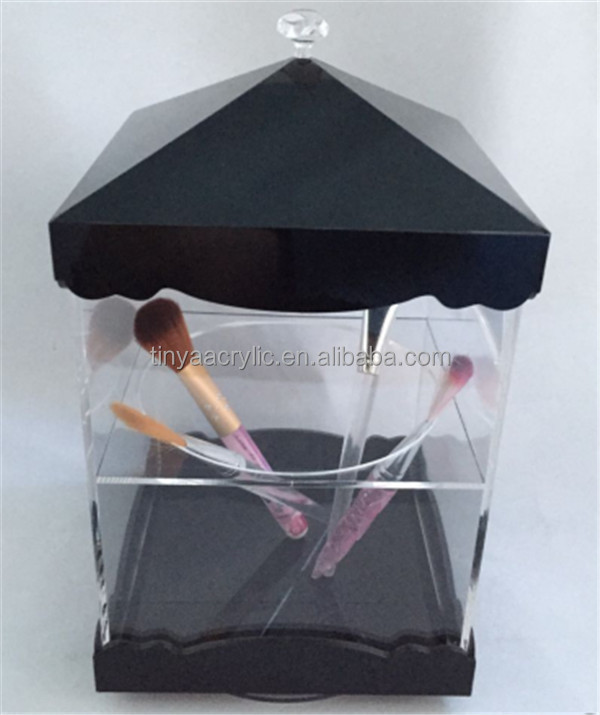 New Product Multi-use Cosmetic Displays Make Up Counter Brush Holder Acrylic Pen Display Stand