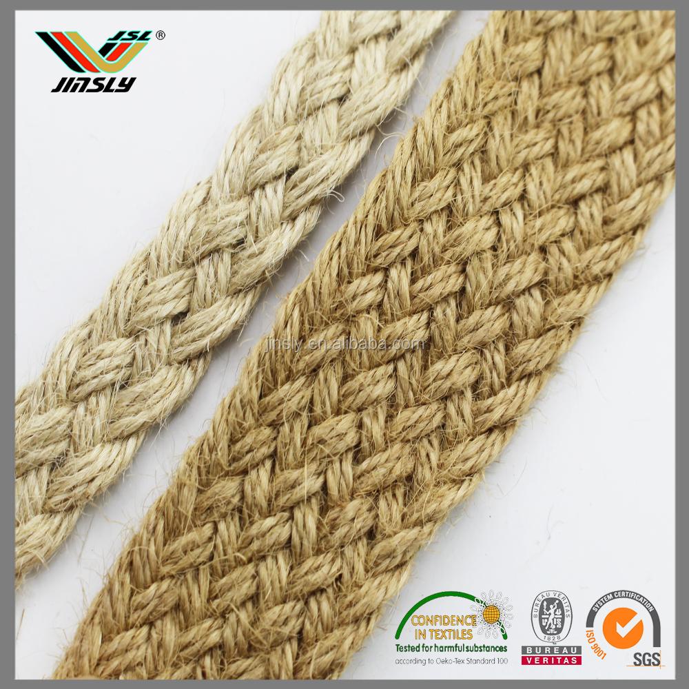 12mm twill natural skipping braided jute rope braided sisal rope - Sisal Rope