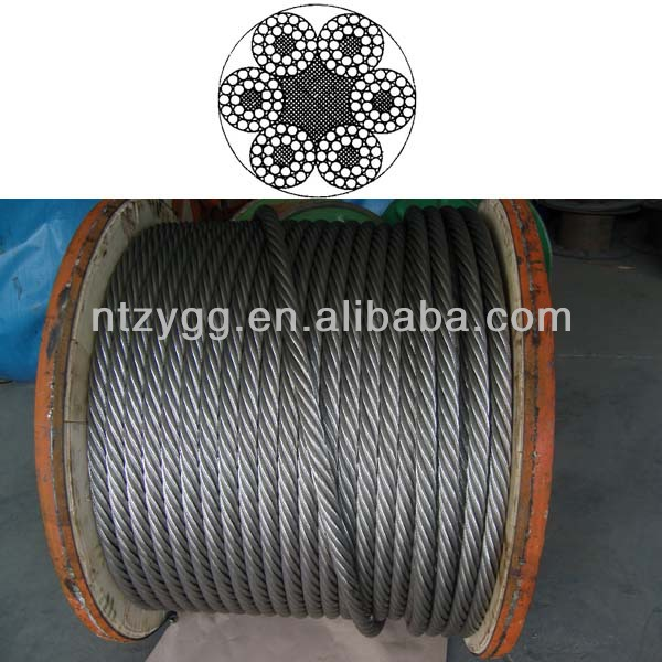 7 core cable wire rope cables 6x24 steel wire rope 24mm