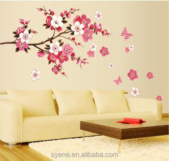 Flower Tree Wall Stickers Sakura Wall Decals Home Decoration