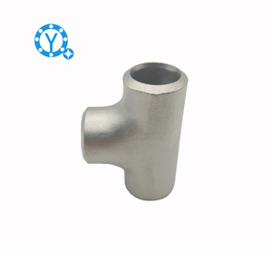 ANSI 304 316L Stamping three tee Stainless steel pipe Equal diameter three tee