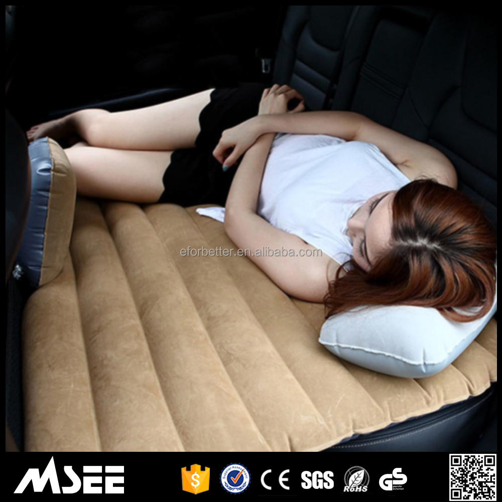 2017 new wholesale Car Back Seat Cover Air bed Travel Inflatable Adult Car Bed