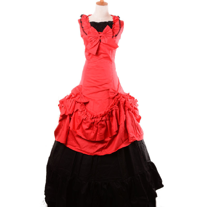 red victorian period dress adult southern belle costume gothic lolita gowns  party halloween costumes for women plus size custom