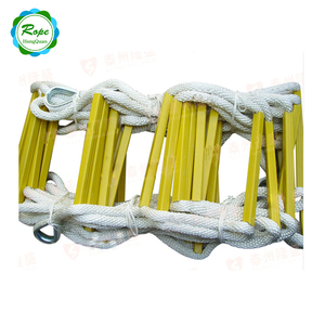 High Strength Nylon Fire Emergency Folding Fire Escape Safety Climbing Rope Ladder