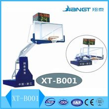 FIBA Standard Electric hydraulic basketball stand for competition