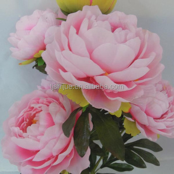Pink And White Artificial Peony Silk Peony Flowers Wholesale Peony