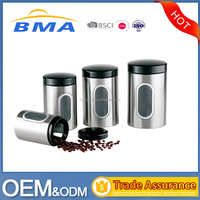 Stainless Steel Kitchen Storage Canister Coffee Canister