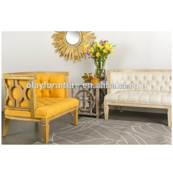 2017 hot sale antique tufted upholstery wedding sofa furniture,classical wooden handcrafted rental sofa event furniture