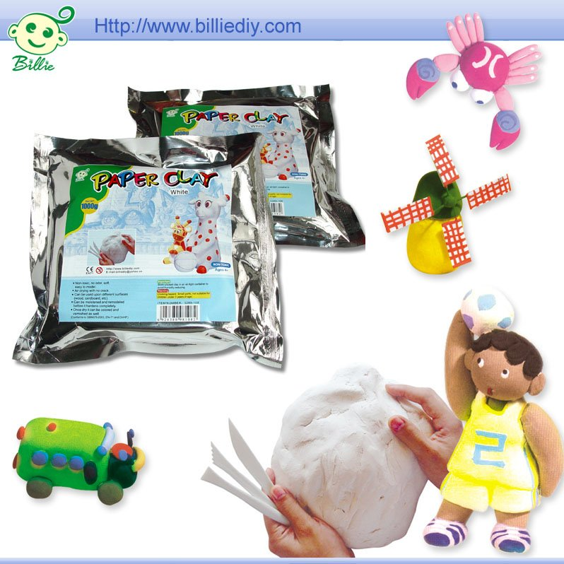 Air hardening plasticine modeling clay