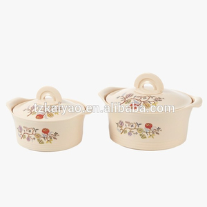 2 pcs set popular African india style stainless steel insulated food warmer casserole