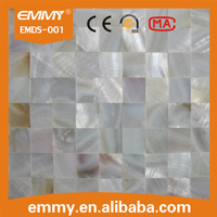 Pure white mother of pearl carving freshwater shell mosaic bathroom decorative wall tiles