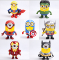 3D Eye Minion Cos Avengers Superheroes Iron man Spriderman Hulk Thor PVC Action Figures Kids